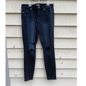 GOOD AMERICAN Good Legs Dark Jeans, Size 12